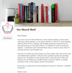 our shared shelf book club